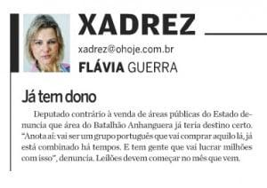 Nota publicada na edição deste domingo do jornal O Hoje: processo sob suspeita