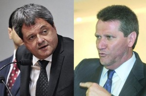 Presidente da Agetop, Jayme Rincon, e secretário do Planejamento, Giuseppe Vecci: alvos de críticas do deputado Vitti