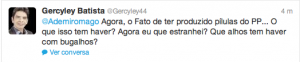 Postagem de Gercyley Batista, o Rui Barbosa da política goiana