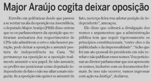 Imagem de matéria publicada neste sábado pelo jornal O Hoje