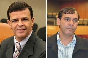 Vereadores Paulo Borges e Wellington Peixoto: eles contam com a complacência dos colegas