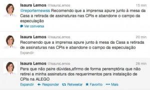tweet - isaura