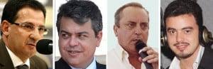 Vanderlan e seu exército brancaleônico: Roller, Paulo Roberto Cunha e Renner. Deu no que deu