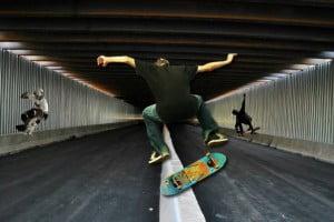 skate tunel