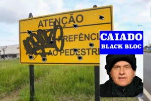 placa destruida caiado