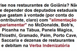verba indenizatoria farra gastronomica