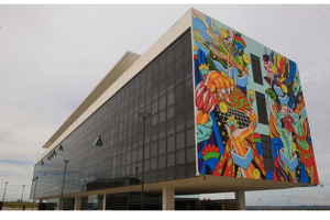 painel centro cultural oscar niemeyer
