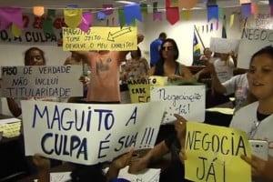 greve aparecida professores