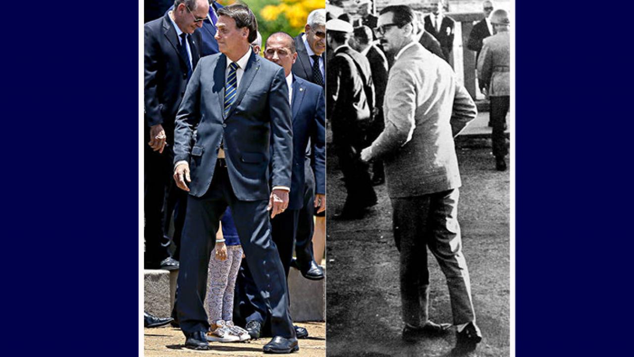 Fotógrafo flagra Bolsonaro em pose idêntica à de Jânio Quadros em 1961:  mera coincidência? - Goiás 24 horas